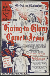 """Going to Glory, Come to Jesus (Toddy Pictures, 1946). One Sheet (27"""" X 40.5""""). Black Films"""