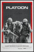 "Movie Posters:Academy Award Winners, Platoon (Orion, 1986). Autographed One Sheet (27"" X 41""). Academy Award Winners.. ..."