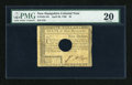Colonial Notes:New Hampshire, New Hampshire April 29, 1780 $5 PMG Very Fine 20, HOC....