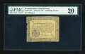 Colonial Notes:Pennsylvania, Pennsylvania April 20, 1781 2s/6d PMG Very Fine 20....