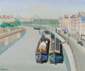 Fine Art - Painting, European:Modern  (1900 1949)  , ARMAND MARIE GUERIN (French, 1913-1983). The Seine. Oil oncanvas laid on board. 20 x 24 inches (50.8 x 61.0 cm). Signed...