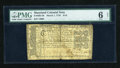 Colonial Notes:Maryland, Maryland March 1, 1770 $1/6 PMG Good 6 Net....