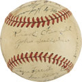 Autographs:Baseballs, 1947 Washington Senators Team Signed Baseball....