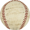Autographs:Baseballs, 1940 New York Giants Team Signed Baseball....