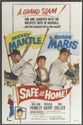 Baseball Collectibles:Others, Mickey Mantle Signed Safe at Home Poster....