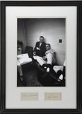 Autographs:Others, Mickey Mantle and Roger Maris Cut Signature and Photograph Display....