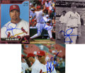 Autographs:Photos, Albert Pujols and Mark McGwire Signed Photographs Lot of 4. ...(Total: 4 items)