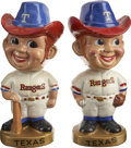 Baseball Collectibles:Others, 1966-71 Texas Rangers Bobbleheads Lot of 2.... (Total: 2 items)