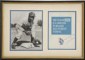 Autographs:Others, Jackie Robinson Signed Program....