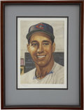 Baseball Collectibles:Others, Bob Feller Signed Lithograph. ...