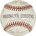 Baseball Collectibles:Others, 1942 Brooklyn Dodgers Team Signed Baseball....