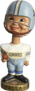 Football Collectibles:Others, 1968-70 Dallas Cowboys Bobblehead....