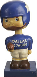 Football Collectibles:Others, 1961-63 Dallas Cowboys Square Base Bobblehead....