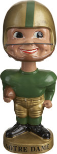 Football Collectibles:Others, 1961-68 Notre Dame Bobblehead....