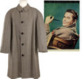 Movie/TV Memorabilia:Costumes, Glenn Ford's Wool Trenchcoat from Young Man with Ideas....