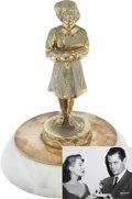 Movie/TV Memorabilia:Awards, Glenn Ford's Medical Center Humanitarian Award, Presented by RitaHayworth....