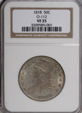 Bust Half Dollars: , 1818 50C VF35 NGC. O-112. NGC Census: (9/395). PCGS Population(27/369). Mintage: 1,960,322. Numismedia Wsl. Price for NGC...