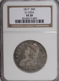 Bust Half Dollars: , 1817 50C VF20 NGC. O-105A. NGC Census: (6/323). PCGS Population(5/316). Mintage: 1,215,567. Numismedia Wsl. Price for NGC...