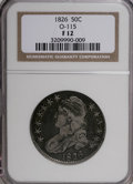 Bust Half Dollars: , 1826 50C F12 NGC. O-115. NGC Census: (6/1469). PCGS Population(4/1161). Mintage: 4,000,000. Numismedia Wsl. Price for NGC...
