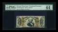 Fractional Currency:Third Issue, Fr. 1330aSP 50c Third Issue Spinner Face PMG Choice Uncirculated 64 EPQ....