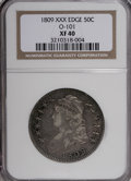 Bust Half Dollars: , 1809 50C XXX Edge XF40 NGC. O-101. NGC Census: (3/19). PCGSPopulation (6/15). Numismedia Wsl. Price for NGC/PCGS coin in...