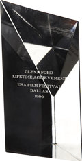 Movie/TV Memorabilia:Awards, Glenn Ford's USA Film Festival Achievement Award....