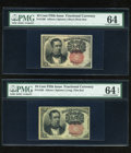 Fractional Currency:Fifth Issue, Fr. 1265/Fr. 1266 10c Fifth Issue PMG Choice Uncirculated 64 and 64 EPQ.... (Total: 2 notes)
