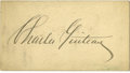 Autographs:Celebrities, Charles Guiteau Signed Card....
