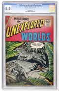 Silver Age (1956-1969):Horror, Mysteries of Unexplored Worlds #1 (Charlton, 1956) CGC FN- 5.5 Cream to off-white pages....