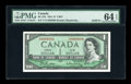 Canadian Currency: , BC-37b $1 1954 Solid Eight Serial Number.. ...