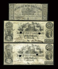 Obsoletes By State:Louisiana, New Orleans, LA- Bank of New Orleans $3, $50 (2) April 16, 1862, Feb. 5, 1862 G18, G26b. ... (Total: 3 notes)