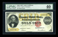 Large Size:Gold Certificates, Fr. 1211 $100 1882 Gold Certificate PMG Extremely Fine 40....