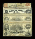 Obsoletes By State:Louisiana, Shreveport, LA- State of Louisiana $100 (6), $50 (4), $20 (3) Mar. 10, 1863 Cr. 11, 12, 13. ... (Total: 13 notes)