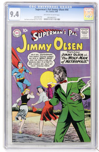 Superman's Pal Jimmy Olsen #44 (DC, 1960) CGC NM 9.4 Off-white to white pages