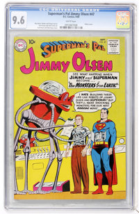Superman's Pal Jimmy Olsen #47 (DC, 1960) CGC NM+ 9.6 White pages