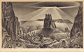 Texas:Early Texas Art - Drawings & Prints, ALEXANDRE HOGUE (American, 1898-1994). Desert Glare.Lithograph. 8-3/4 x 13-3/4 inches (22.2 x 34.9 cm). Signed lowerle...