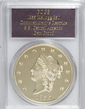 """S.S.C.A. Relic Gold Medals, 1855 $50 SSCA Relic Gold Medal """"1855 Kellogg & Co. Fifty"""" GemProof PR PCGS...."""