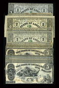 Obsoletes By State:Louisiana, Baton Rouge, LA- State of Louisiana $3 (5), $2 (4), $1 (4) Feb. 24, 1862 Cr. 4, 6, 8, $5 (8) Oct. 10, 1862 Cr. 10. ... (Total: 21 notes)