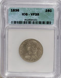 Bust Quarters: , 1836 25C VF35 ICG. NGC Census: (11/83). PCGS Population (10/81). Mintage: 472,000. Numismedia Wsl. Price for NGC/PCGS coin ...