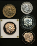 U.S. Presidents & Statesmen, Quintet of 1973 Nixon-Agnew Second Term Inaugural Medals....(Total: 5 medals)