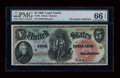 Large Size:Legal Tender Notes, Fr. 64 $5 1869 Legal Tender PMG Gem Uncirculated 66 EPQ....