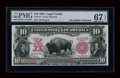 Large Size:Legal Tender Notes, Fr. 114 $10 1901 Legal Tender PMG Superb Gem Unc 67 EPQ....