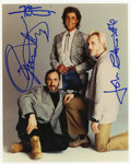 Music Memorabilia:Autographs and Signed Items, The Who Signed Band Photo....