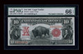 Large Size:Legal Tender Notes, Fr. 115 $10 1901 Legal Tender PMG Gem Uncirculated 66 EPQ....
