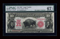 Large Size:Legal Tender Notes, Fr. 119 $10 1901 Legal Tender PMG Superb Gem Unc 67 EPQ....