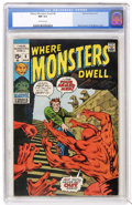 Bronze Age (1970-1979):Horror, Where Monsters Dwell #8 (Marvel, 1971) CGC NM 9.4 Off-whitepages....
