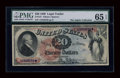 Large Size:Legal Tender Notes, Fr. 127 $20 1869 Legal Tender PMG Gem Uncirculated 65 EPQ....