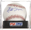 Autographs:Baseballs, Monte Irvin Single Signed Baseball, PSA Mint 9....