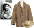 Movie/TV Memorabilia:Costumes, Glenn Ford's Cowboy Hat and Coat from Rage.... (Total: 2Items)