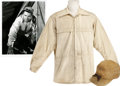 Movie/TV Memorabilia:Costumes, Glenn Ford's Jacket and Cap from The White Tower.... (Total: 2 Items)
